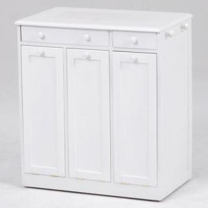 ごみ箱内蔵薄型キッチンカウンター 隠しキャスター付き 幅66cm高さ71cm ホワイト MUD-6257WH hg-mud-6257wh|bookshelf