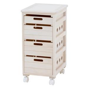 キャスター付きキッチンストッカーチェスト 幅30cm高さ62cm ウォッシュホワイト MUD-6404WS hg-mud-6404ws|bookshelf