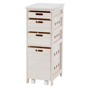 キッチンストッカーチェスト 幅30cm高さ79cm ウォッシュホワイト MUD-6406WS hg-mud-6406ws|bookshelf