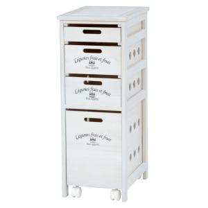 キッチンストッカーチェスト 幅30cm高さ79cm ロゴ入り ウォッシュホワイト MUD-6906WS hg-mud-6906ws|bookshelf