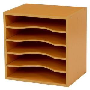 キューブボックス型A4ファイルラック 幅35cm高さ35cm ナチュラル 2個組 MUD-6977NA hg-mud-6977na|bookshelf