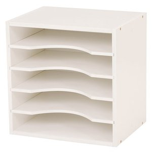 キューブボックス型A4ファイルラック 幅35cm高さ35cm ホワイト 2個組 MUD-6977WH hg-mud-6977wh|bookshelf