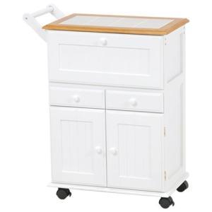 キッチンストッカーワゴン ナチュラルホワイト MW-3708NW hg-mw-3708nw|bookshelf