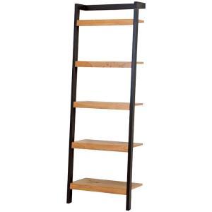 立て掛けラダーラック 幅62cm高さ183cm ブラック|bookshelf