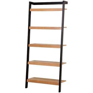 立て掛けラダーラック 幅80cm高さ183cm ブラック|bookshelf