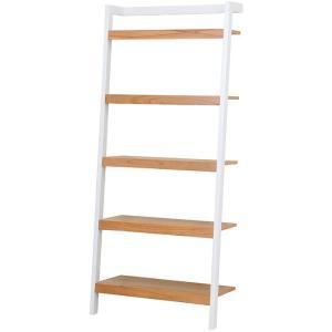 立て掛けラダーラック 幅80cm高さ183cm ホワイト bookshelf