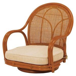 籐回転座椅子 ロータイプ 2脚組 RZ-341NA hg-rz-341na bookshelf