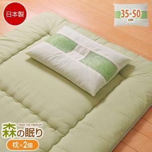 ピロー ヒバエッセンス練り込みパイプ使用 ひばパイプ枕 2個組 35×50cm|bookshelf