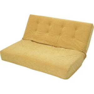 厚みのあるリクライニング座椅子 W ダブル幅広2人掛け スエード調 ゴールド|bookshelf