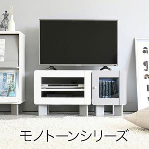 モノトーンシリーズ テレビ台 伸縮式(幅80〜120cm) 収納付き ホワイトグレー fym-0001|bookshelf