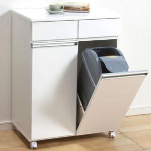 食器棚収納 レンジ台 カウンター ゴミ箱内蔵キッチンカウンター|bookshelf