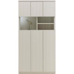 ラック マルチキャビネット 3列 幅90cm高さ180cm ホワイトウッド bookshelf