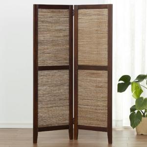 衝立 和風 ココスクリーンH125 2連 間仕切り スクリーン 折り畳み 木製 目隠し つい立て ついたて パーテーション パーティション シンプル|bookshelf