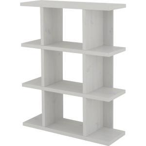 オープンラック フィズシェルフ 幅90cm高さ114cm ホワイト ディスプレイラック オープンシェルフ 収納棚  ラック オープン収納棚 オープン棚 パーテーション|bookshelf