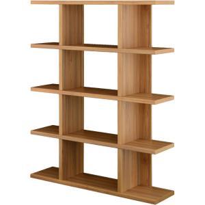 オープンラック フィズシェルフ 幅120cm高さ150cm ダークナチュラル|bookshelf