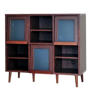 ディスプレイラック プレモ 幅109cm高さ98cm オープンラック 収納棚 フラップ扉 ディスプレイ ラック オープン収納棚 オープン棚 リビング収納 リビング|bookshelf