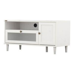 レトロ調テレビ台 ポーリー 幅90cm ホワイト|bookshelf