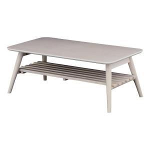 折りたたみテーブル センターテーブル 折りたたみ木製リビングテーブル 棚付 セレノ 幅90cm ホワイトウォッシュ ローテーブル 収納付きテーブル 棚付きテーブル|bookshelf