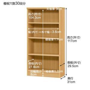 オーダー本棚 オーダー オーダーメイド 幅15〜24cm 奥行31cm 高さ117cm オーダーメード 日本製 エースラック カラーラック 本棚 書棚 ラック シェルフ 棚 収納|bookshelf|02