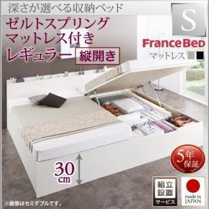 組立設置 国産 ベッド 跳ね上げ 跳ね上げ式ベッド 収納ベッド Renati レナーチ シングル・レギュラー・縦開き・デュラテクノマットレス付 収納付きベッド bookshelf