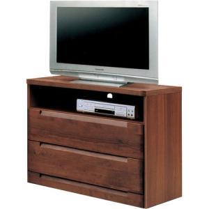 ハイタイプテレビ台 スカーレット 幅80cm高さ75cm ダークブラウン|bookshelf