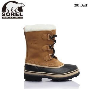 ソレル ユースカリブ SOREL Youth Caribou LY1000 Buff(281)子供用 防寒ブーツ ジュニア スノーブーツ −40℃まで対応|boomsports-ec