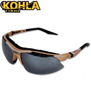 (KOHLA/コーラ)メンズ サングラス アルペングラス KLST-1850 ゴーグル シャンパンゴールド シルバー|boomsports-ec