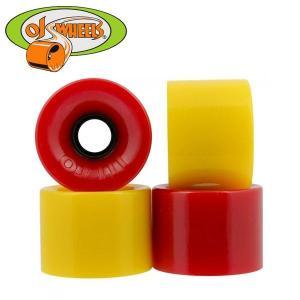 オージェイ ホット ジュース ウィール(OJ HOT JUICE)スケートボード ソフト クルーザー スクエア カラー:RED&YELLOW サイズ:60mm/78a|boomsports-ec