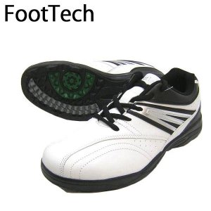 FootTech フットテック FT-202 WHITE ゴルフシューズ トレーニング メンズ 紳士用 25cm 25.5cm 26cm 26.5cm 27cm|boomsports-ec