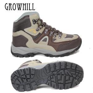 トレッキングシューズ GROWHILL グローヒル GTS180 23.5cm 24cm ブラウン|boomsports-ec