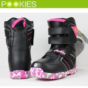 POOKIES Chil Chil PK144J プーキーズ チルチル BLACK×PINK スノーボードブーツ ジュニア キッズ 子供用 boomsports-ec