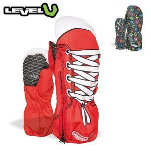 レベル キディミット LEVEL KIDDY MITT スキー スノーボード グローブ ジュニア キッズ 子供用 WHITE RED/PINK RAINBOW boomsports-ec
