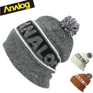 ANALOG アナログ ニット帽子 TOKYO BAY BEANIE 100859100 GRAY SKIES HEATHER/FOG/ADOBE スキー スノーボード アクセサリー|boomsports-ec