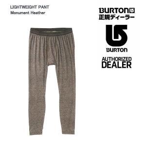 16-17 2017 Burton(バートン) LIGHTWEIGHT PANT (ライトウェイトパンツ) Monument Heather ファーストレイヤー インナー メンズ 男性|boomsports-ec