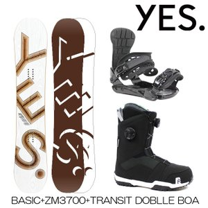 スノーボード 3点セット メンズ レディース ユニセックス ボード+ビンディング+ブーツ Yes BASIC + ZM3800 + TRANSIT DOUBLE BOA|boomsports-ec