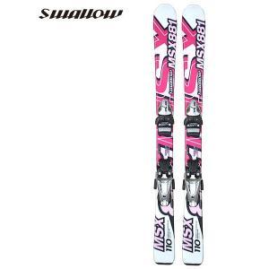 スワロー エムエスエックス SWALLOW MSX-881 子供用 ジュニア スキー セット ビンディング付 2点セット 板 RED レッド|boomsports-ec