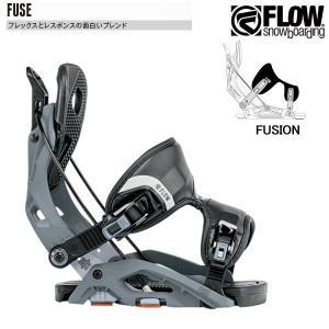 17-18 フロー フューズ フュージョン FLOW FUSE FUSION GUNMETAL メンズ スノーボード ビンディング 国内正規品|boomsports-ec