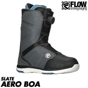 17-18 フロー スノーボード ブーツ エアロ コイラー 靴 FLOW SNOWBOARDS AERO COILER 2018 SLATE boomsports-ec