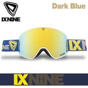 17-18 アイエックスナイン アイエックス3 ゴーグル IXNINE IX3 Dark Blue スキー スノーボード 平面レンズ 日本上陸 IX9 boomsports-ec