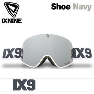 17-18 アイエックスナイン アイエックス3 ゴーグル IXNINE IX3 Shoe Navy スキー スノーボード 平面レンズ 日本上陸 IX9 boomsports-ec