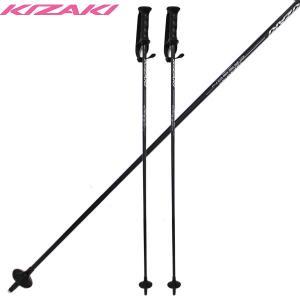 キザキ トレイジャー スキーポール ストック KIZAKI XPAE-2100 BLK 105cm/110cm/115cm/120cm 軽量|boomsports-ec