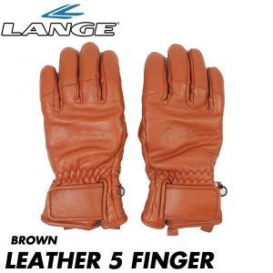 ラング レザー5フィンガー LANGE LEATHER 5 FINGER メンズ スキー スノーボード フルレザー グローブ 男性用 手袋 日本正規品 boomsports-ec