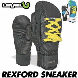 18 レベル レックスフォード スニーカー LEVEL REXFORD SNEAKER メンズ スキー スノーボード グローブ 男性用 手袋 ミトン 日本正規品 boomsports-ec