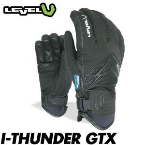 18 レベル サンダー ゴアテックス LEVEL I-THUNDER GTX メンズ スキー スノーボード グローブ 男性用 手袋 五本指 タッチスクリーン対応 BLACK 日本正規品 boomsports-ec