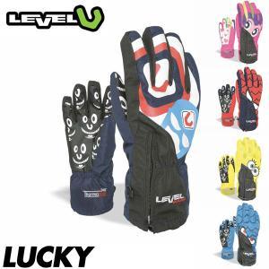 18 レベル ジュニア ラッキー グローブ LEVEL LUCKY GLOVE キッズ 子供用 スキー スノーボード 手袋 五本指 日本正規品|boomsports-ec