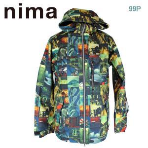 ニマ ユニセックスボードジャケット メンズ スノーウェア nima NB-1016 99P S/M/L/LL 男性用 スキー スノボ|boomsports-ec