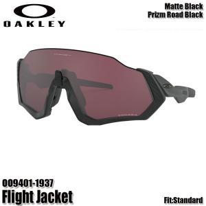 オークリー サングラス フライトジャケット プリズムレンズ OAKLEY Flight Jacket OO9401-1937 Matte Black/Prizm Road Black 正規品|boomsports-ec
