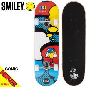 スマイリー スケートボード コンプリート 完成品 SMILEY COMIC 28in×6in 初心者 入門者 スタンダード|boomsports-ec