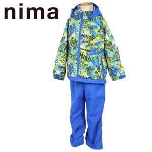 ニマ トドラースキースーツ スノーウェア ジュニア 上下セット nima JR-4653 55P/19P 100/110/120 キッズ サイズ調節機能付|boomsports-ec