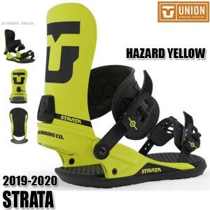 予約商品 19-20 ユニオン ストラータ ビンディング UNION STRATA HAZARD YELLOW S/M/L 男性用 メンズ ユニセックス スノボ スノーボード 2020  日本正規品